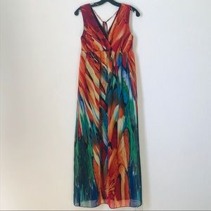 Multi-Color Sleeveless Maxi Dress